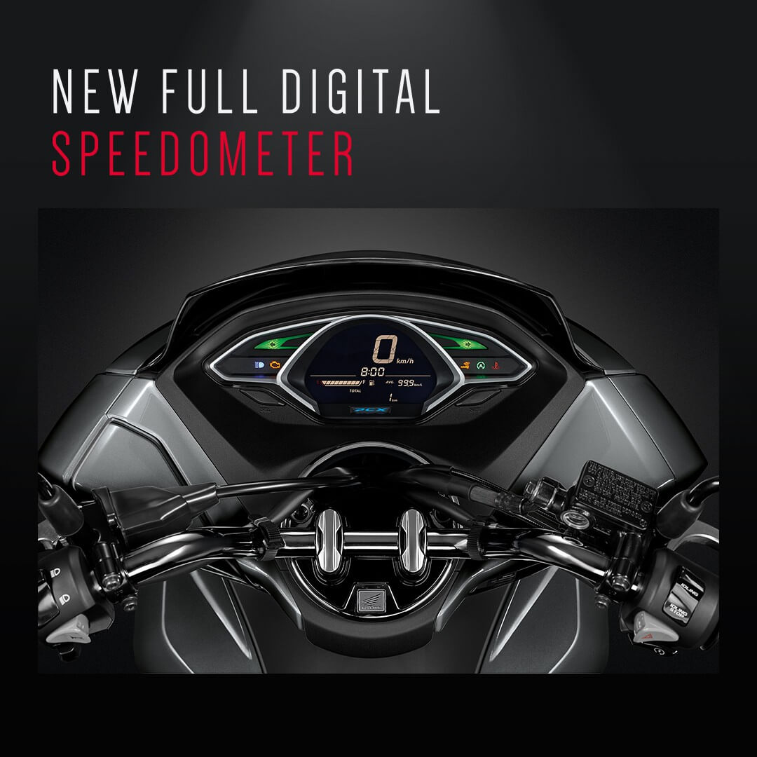 Honda-Motorcycle-มอเตอร์ไซค์-ฮอนด้า-pcx150-2018-ข่าวประชาสัมพันธ์-ข่าวผลิตภัณฑ์-new-full-digital-speedometer