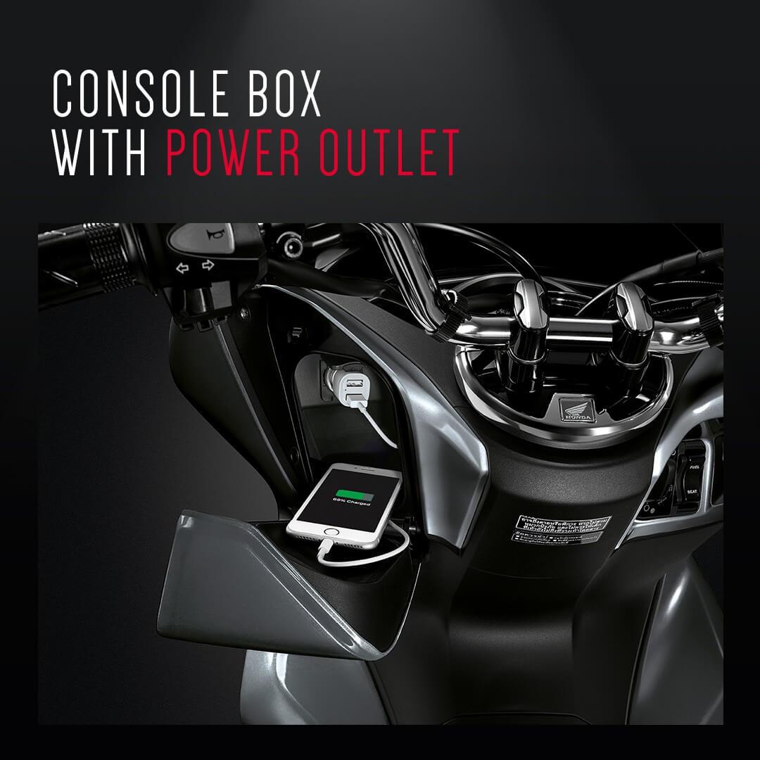 Honda-Motorcycle-มอเตอร์ไซค์-ฮอนด้า-pcx150-2018-ข่าวประชาสัมพันธ์-ข่าวผลิตภัณฑ์-console-box-with-power
