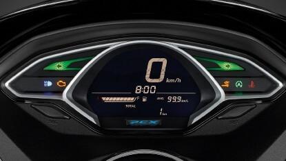 Honda-Motorcycle-มอเตอร์ไซค์-ฮอนด้า-PCX150-2017-Information-รายละเอียด-แผงหน้าปัด-NEW-FULL-DIGITAL-SPEEDOMETER