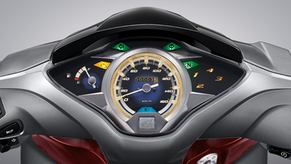 Honda-Motorcycle-มอเตอร์ไซค์-ฮอนด้า-All New Wave 125i-Information-รายละเอียด-หน้าปัดเรือนไมล์-New Premium Amber Meter