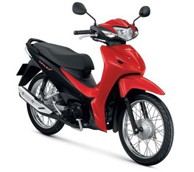 All New Honda Wave110i 2021 สีแดง-ดำ