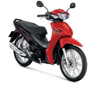 All New Honda Wave110i 2021  สีแดง-เทา
