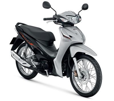 All New Honda Wave110i 2021 สีขาว-เทา