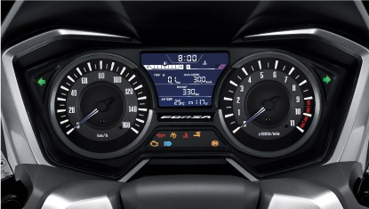 Honda-Motorcycle-มอเตอร์ไซค์-ฮอนด้า-all-new-forza-2018-Information-รายละเอียด-Newly-Designed-Meter-with-Excellent-Functions-แผงหน้าปัดดิจิทัล-ฟังก์ชันแบบรถยนต์-แจ้งเตือนการบำรุงรักษา