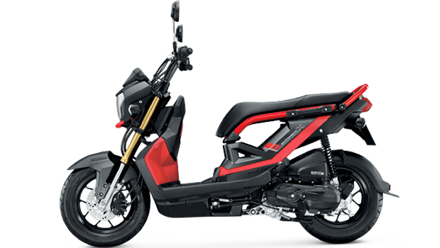 Honda-Motorcycle-มอเตอร์ไซค์-ฮอนด้า-zoomer-x-2017-color-Mat-Black-Red-ดำด้าน-แดง