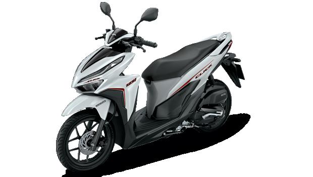 Honda-Motorcycle-มอเตอร์ไซค์-ฮอนด้า-click-125-i-2018-color-White-Black