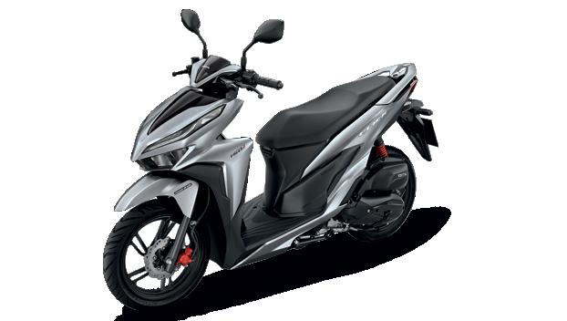 Honda-Motorcycle-มอเตอร์ไซค์-ฮอนด้า-new-click150i-2018-automatic-color-Silver-Black-สีเงิน-สีดำ
