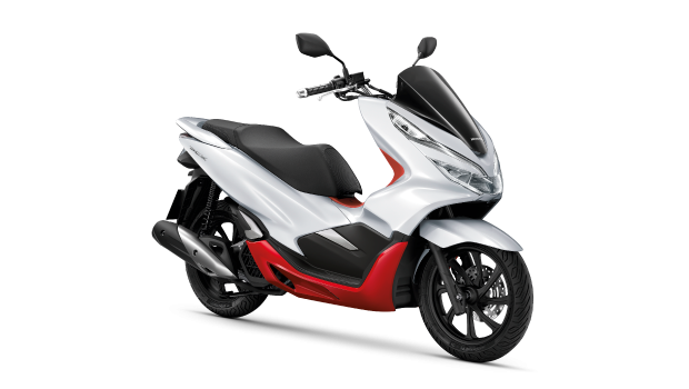 Honda-Motorcycle-มอเตอร์ไซค์-ฮอนด้าPCX150-2019-color-ขาว-แดง