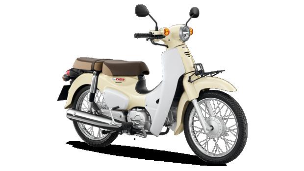 Honda-Motorcycle-มอเตอร�����-ฮอ�ด�า-supercub-2018-color-Red-White-สี�ด�-สี�าว