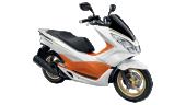 Honda-Motorcycle-มอเตอร์ไซค์-ฮอนด้า-pcx-150-2016-color-white-orange-สีส้ม-สีขาว