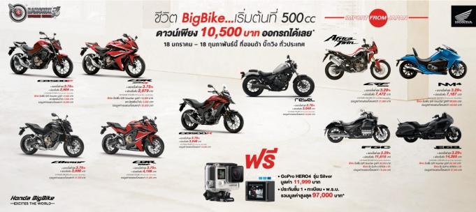 Honda-Motorcycle-BigBike-มอเตอร์ไซค์-ฮอนด้า-บิ๊กไบค์-promotion-โปรโมชั่น-ชีวิต-BigBike-เริ่มต้นที่-500cc